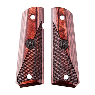 Pachmayr 1911 American Legend Checkered Grips - 1911 Grips Half-Checkered Rosewood