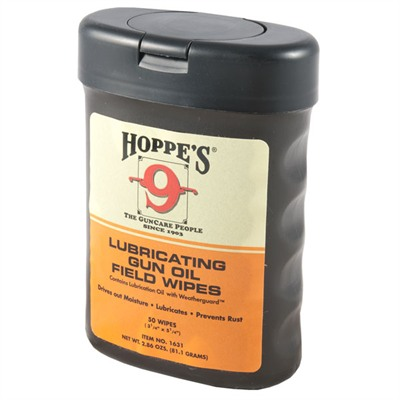 Hoppes Lubricating Gun Oil Field Wipes - Lubricating Gun Oil Field Wipes (50 Wipes)