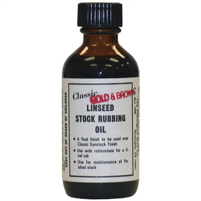 Linseed Stock Rubbing Oil - Gold & Brown Classic Linseed