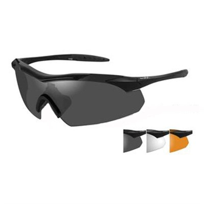 Vapor Shooting Glasses - Clear Rust, Smoke Gray Vapor Shooting Glasses Black