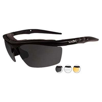 Wiley X Eyewear Guard Shooting Glasses - Clear Rust, Smoke Gray Guard Shooting Glasses Black