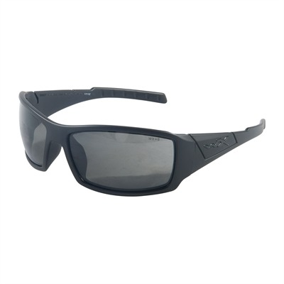 Wiley X Eyewear Twisted Black Ops Shooting Glasses - Gray Twisted Black Ops Shooting Glasses Black