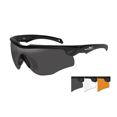 Rogue Glasses - Wx Rogue- Black Frame- Grey/Clear/Rust Lens