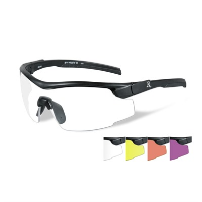 Remington Adult Safety Glasses - Remington Adult Glasses-Black Frame-5 Lens Colors