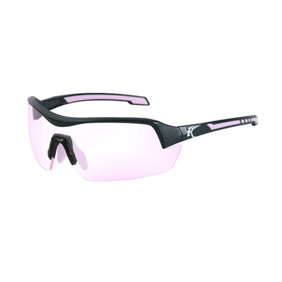 Remington Ladies Safety Glasses - Remington Ladies Glasses-Black&Pink Frame-Clear Rose Lens