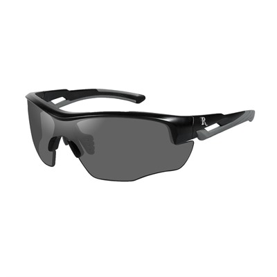 Remington Youth Safety Glasses - Remington Youth Glasses-Black&Grey Frame-Smoke Lens