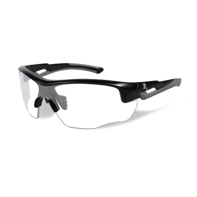 Remington Youth Safety Glasses - Remington Youth Glasses-Black&Grey Frame-Clear Lens