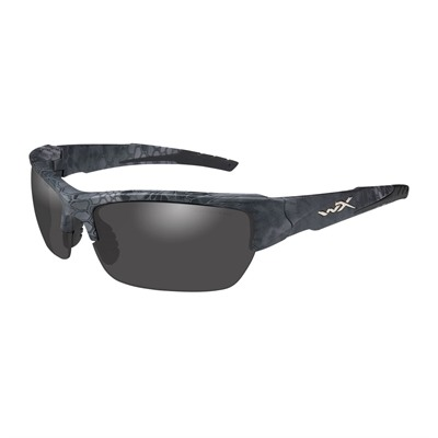 Wiley X Eyewear Valor Safety Glasses - Valor Glasses, Polarized Smoke Grey Kryptek Typhon Frame