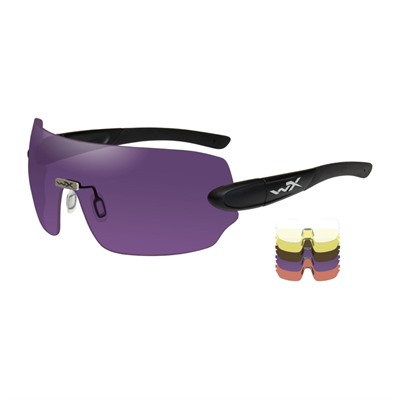Wiley X Eyewear Wx Detection 5 Lens Package - Wx Detection Clear/Copper/Orange/Purple/Yellow Matte Black