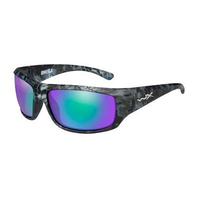 Wiley X Eyewear Wx Omega Glasses - Wx Omega Polarized Emerald Mirroe Kryptek Neptune Frame