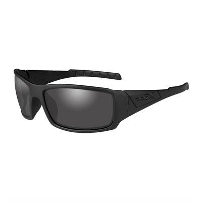 Wiley X Eyewear Twisted Black Ops Shooting Glasses - Twisted Black Ops Polarized Smoke Grey Matte Black Frame