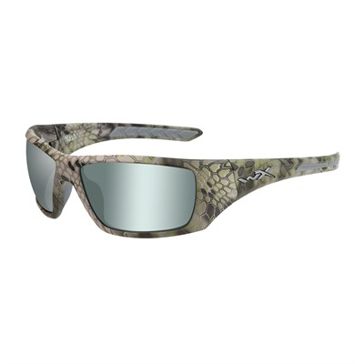 Wiley X Eyewear Wx Nash Glasses - Wx Nash Polarized Green Platinum Flash Kryptek Altitude