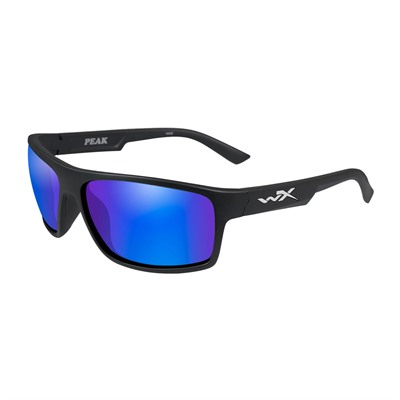 Wiley X Eyewear Wx Peak Glasses - Wx Peak Polarized Blue Mirror Lens Matte Black Frame