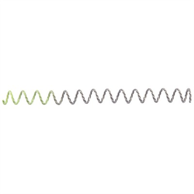Recoil Spring, 3 Strand, Green, 20-22lbs, Blue, Two Tone