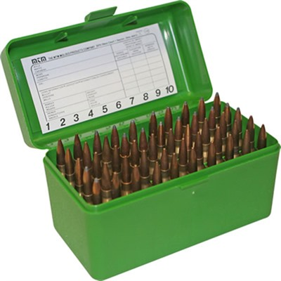 Mtm Rifle Ammo Boxes - Ammo Boxes Rifle Green 17 Remington - 300 Whisper 50