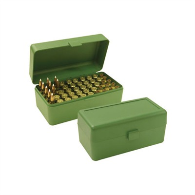 Mtm Rifle Ammo Boxes - Ammo Boxes Rifle Green 270 Wsm- 45-70 Government 50