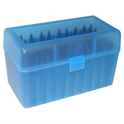 Mtm Rifle Ammo Boxes - Ammo Boxes Rifle Blue 240 Weatherby Magnum - 35 Whelen 50