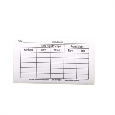 Sinclair Sight/Yardage Label - Sight Labels 25