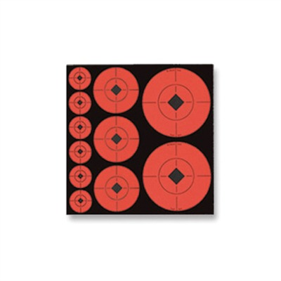 Birchwood Casey Fluorescent Target Spots - Target Dot Assortment - 132 Count