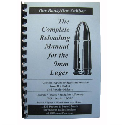Loadbooks Usa, Inc. 749-000-852 Loadbook-9mm Luger