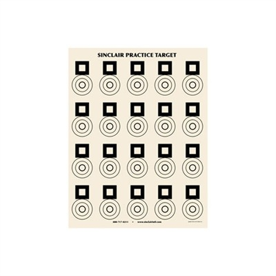 Sinclair Benchrest Practice Target (25 Pack) U.S.A. & Canada
