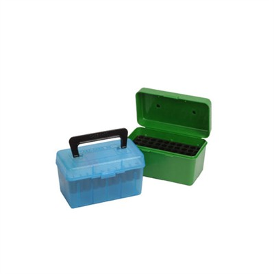 Mtm Rifle Ammo Boxes - Ammo Boxes Rifle Blue  22-250 Remington - 308 Winchester 50