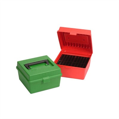 Mtm Rifle Ammo Boxes - Red R-100-Mag Deluxe Ammo Box