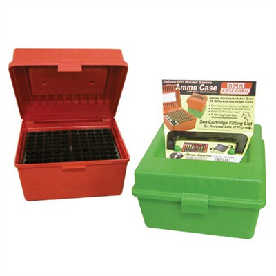 Mtm Rifle Ammo Boxes - Green R-100 Deluxe Ammo Box