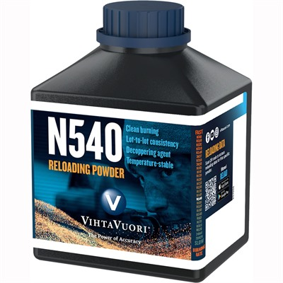 Vihtavuori N540 High Energy Smokeless Rifle Powder - N540 Smokeless Powder 1 Lb