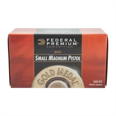 Premium Gold Medal Pistol Primers - Gold Medal Match Small Pistol Mag Primers 1,000/Box