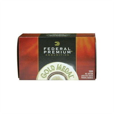 Federal Premium Gold Medal Rifle Primers - 210m Large Rifle Match Primers 1,000/Box