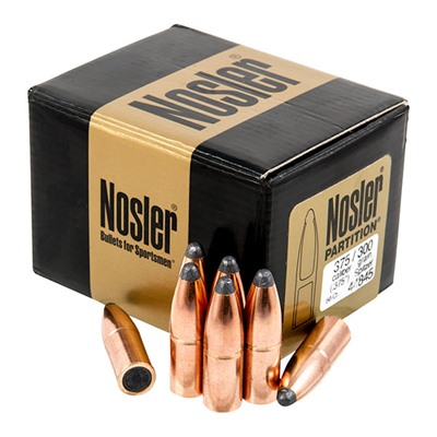 Nosler Partition Bullets - Nosler 375 Cal 300 Gr Spitzer Partition
