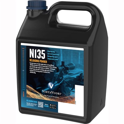 Vihtavuori N135 Smokeless Rifle Powder - N135 Smokeless Powder 8 Lbs