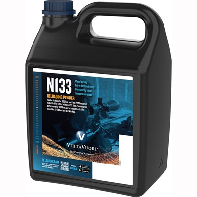 Vihtavuori N133 Smokeless Rifle Powder - N133 Smokeless Powder 8 Lbs