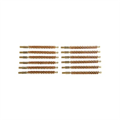 Sinclair International Dozen Pack Bronze Rifle Brushes - Dozen Pack Bronze Rifle Brushes, 25 Cal 8-32