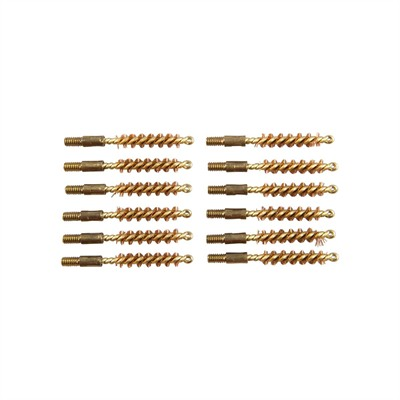 Sinclair International Dozen Pack Bronze Pistol Brushes - Dozen Pack Bronze Pistol Brushes, 22 Cal