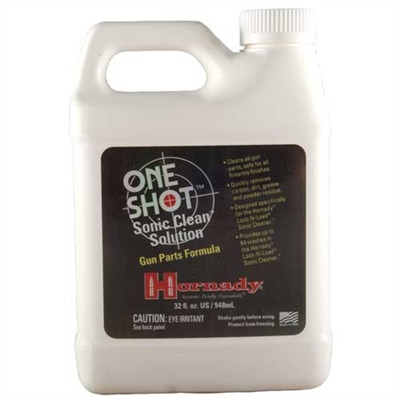 Hornady One Shot Sonic Clean Solutions - Hornady One Shot Clean Solution, Gun Parts Formula, 32 Fl O