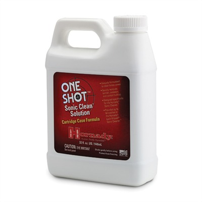 Hornady One Shot Sonic Clean Solutions - Hornady One Shot Sonic Clean Solution, 32 Fl Oz.