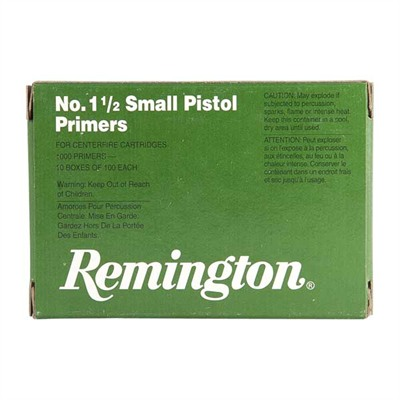Pistol Primers - No.1 1/2 Small Pistol Primers 1,000/Box