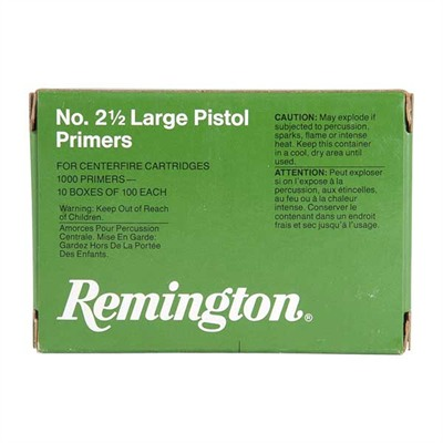 Pistol Primers - No.2 1/2 Large Pistol Primers 1,000/Box
