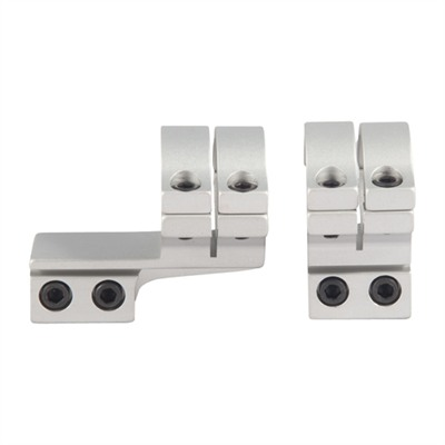 """200 Seroes 1"""" Scope Rings - 1"""" Double Strap Offset Rings, Silver"""