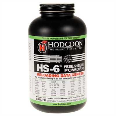 Hodgdon Hs6 Smokeless Powder - Hs6 Smokeless Powder 1lb
