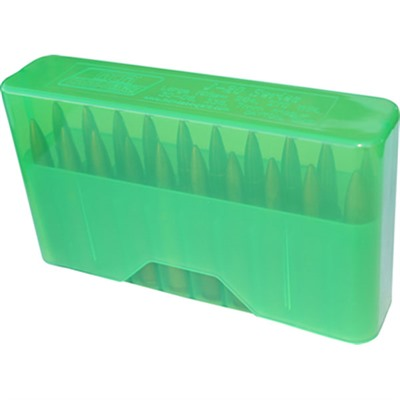 Mtm Rifle Slip Top Ammo Boxes - Slip Top Ammo Boxes Rifle Green 22-7.62 X 39mm 20