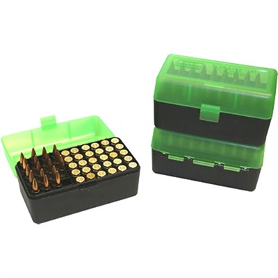 Mtm Rifle Ammo Boxes - Ammo Boxes Rifle Green/Black 270 Wsm- 45-70 Government 50
