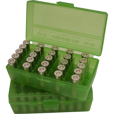 Pistol Ammo Box - Ammo Boxes Pistol Green 9mm-380 50