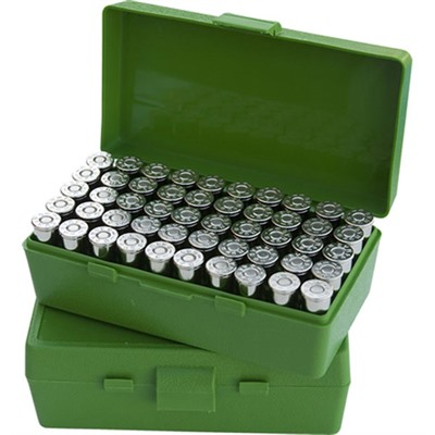 Mtm Pistol Ammo Box - Ammo Boxes Pistol Green 45acp-40-10mm 50