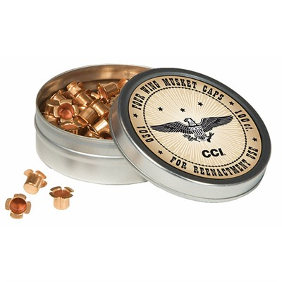 Cci Muzzleloading Percussion Caps - Four Wing Musket Caps 100/Tin