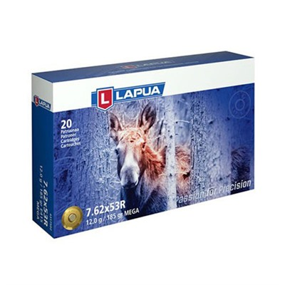 Lapua Mega Ammo 7.62x53r 185gr Soft Point - 7.62x53r 185gr Soft Point 20/Box