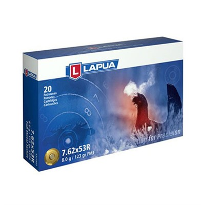 Lapua Sport Shooting Ammo 7.62x53r 123gr Fmj - 7.62x53r 123gr Full Metal Jacket 20/Box