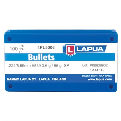 Lapua Soft Point Bullets - 22 Caliber (0.224